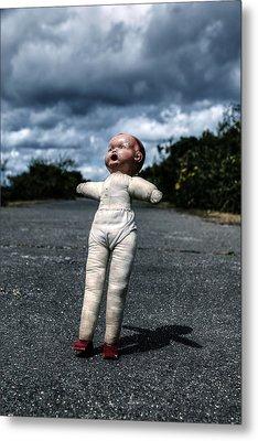 Falling Doll Metal Print