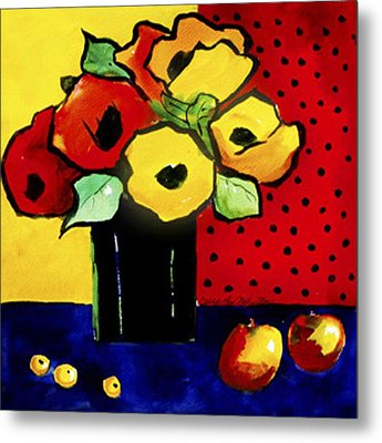 Favorite Funny Flowers 2 Metal Print by Carrie Allbritton
