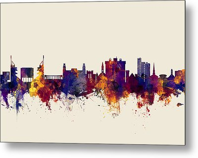 Fayetteville Arkansas Skyline Metal Print by Michael Tompsett