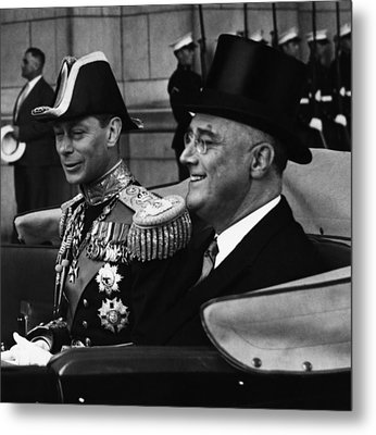 Fdr Presidency. King George Vi Metal Print by Everett
