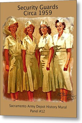 Female Security Guards Metal Print