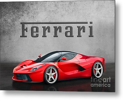 Ferrari La Ferrari Metal Print by Mohamed Elkhamisy