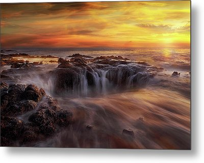 Fire And Water Metal Print by David Gn
