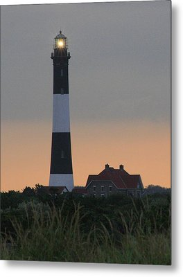 Fire Island Flash Metal Print