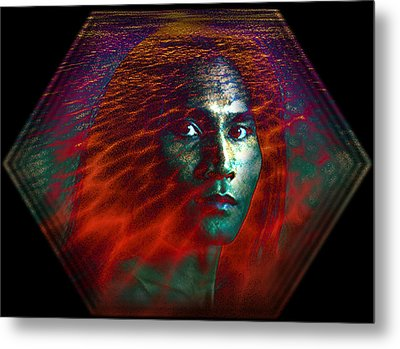 Metal Print featuring the digital art Fire Within by Shadowlea Is