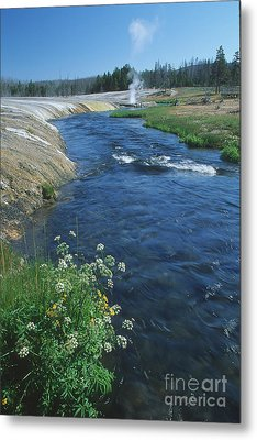 Firehole River Metal Print by Stan and Anne Foster