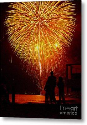Fireworks Metal Print by Marc Bittan