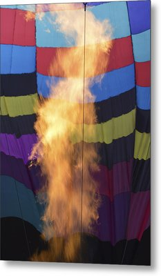 Metal Print featuring the photograph Firing Up by Linda Geiger