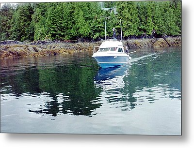 Fishing Boat Metal Print by Judyann Matthews