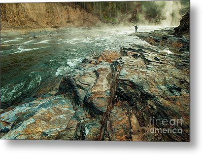 Metal Print featuring the photograph Fishing Day by Iris Greenwell