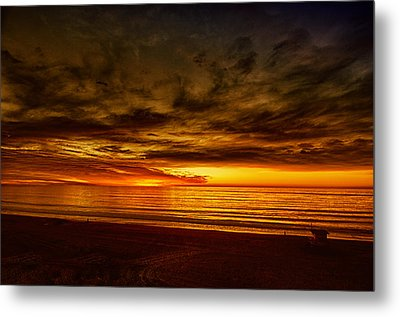 Flaming Sunset Metal Print by Joseph Hollingsworth