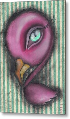 Flamingo Metal Print by Abril Andrade Griffith