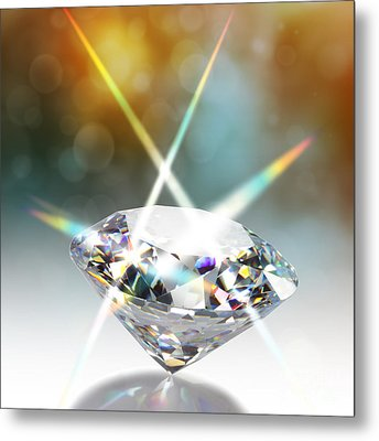 Flashing Diamond Metal Print by Atiketta Sangasaeng