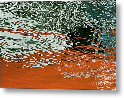 Metal Print featuring the photograph Floating On Blue 43 by Wendy Wilton