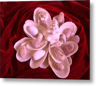 Flower Shell Metal Print by Arlin Jules