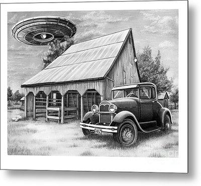 Flying Saucer Metal Print by Murphy Elliott