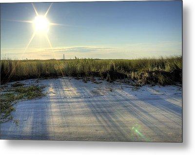 Folly Beach Sunrise Over Morris Island Metal Print by Dustin K Ryan