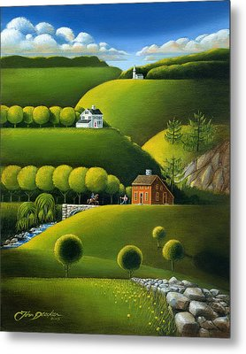 Foothills Of The Berkshires Metal Print by John Deecken
