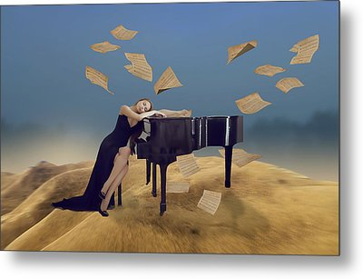 Metal Print featuring the mixed media For The Love Of Music by Marvin Blaine