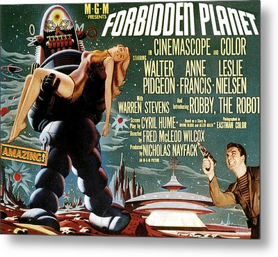 Forbidden Planet, Left Robby The Robot Metal Print