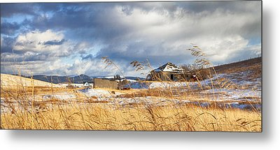 Forgotten Farmhouse Metal Print by Theresa Tahara