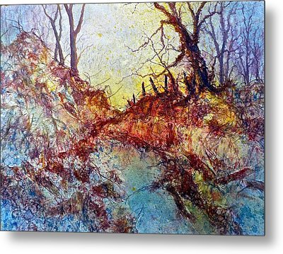 Forgotten Fence Metal Print by Carolyn Rosenberger