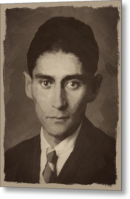 Franz Kafka Metal Print by Afterdarkness