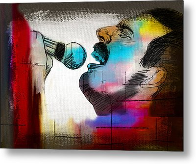 Freddie Mercury Metal Print by Mark Ashkenazi