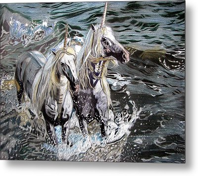 Freedom And Friendship Metal Print by Melita Safran