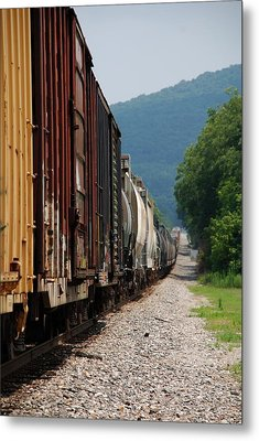 Freight Train Metal Print