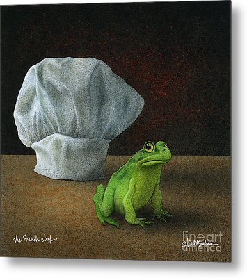 Metal Print featuring the painting French Chef... by Will Bullas