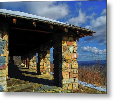 From At Sunrise Mountain In Nj Metal Print by Raymond Salani III