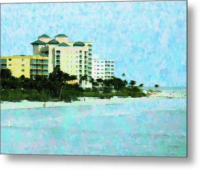 Ft Myers Beachfront Metal Print by Florene Welebny