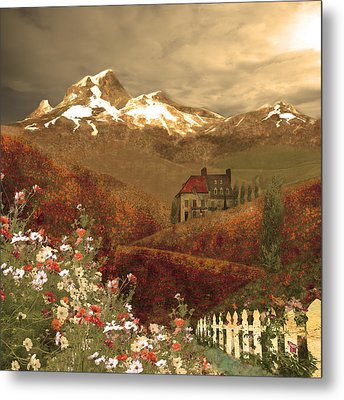 Full Mythical Landscape Metal Print by Jeff Burgess
