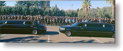 Funeral Service For Police Officer Metal Print by Panoramic Images