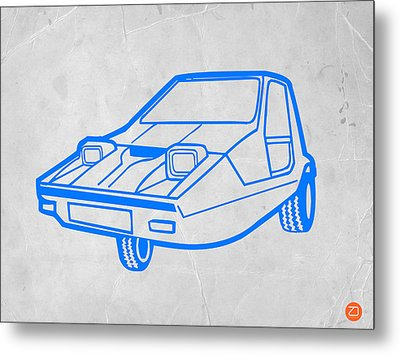 Funny Car Metal Print by Naxart Studio