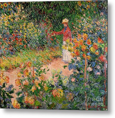 Garden At Giverny Metal Print