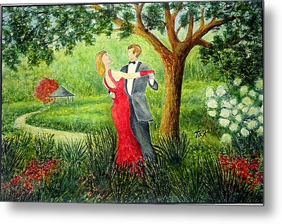 Garden Party Metal Print by Thomas Kuchenbecker