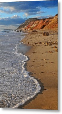Gayhead Cliffs Marthas Vineyard Metal Print