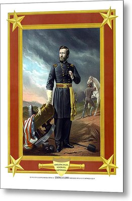General Us Grant Metal Print by War Is Hell Store