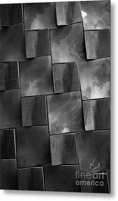 Geometrix Abstract Art Metal Print by Edward Fielding