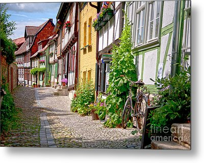 German Old Village Quedlinburg Metal Print by Heiko Koehrer-Wagner