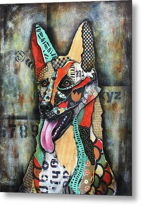German Shepherd Metal Print by Patricia Lintner