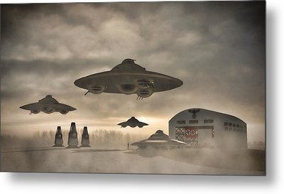 German Wwii Ufo By Raphael Terra Metal Print by Raphael Terra