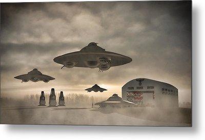 German Wwii Ufo By Raphael Terra Metal Print