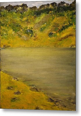 Metal Print featuring the painting Glacial Lake by Evelina Popilian