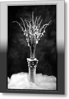 Gladiolas Metal Print by Linda Olsen