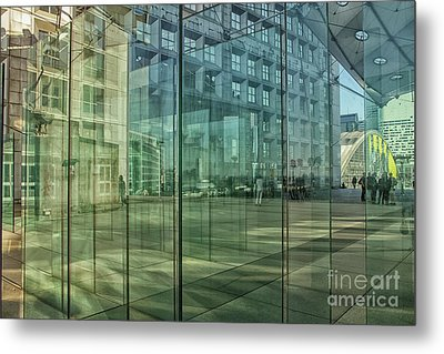 Metal Print featuring the photograph Glass Panels At Le Grande Arche by Patricia Hofmeester
