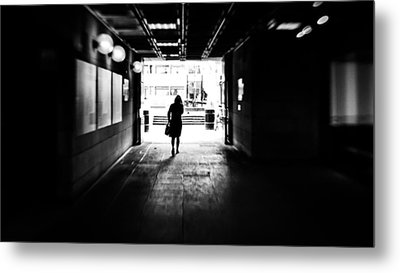 Going Back Home - Dublin, Ireland - Black And White Street Photography Metal Print by Giuseppe Milo