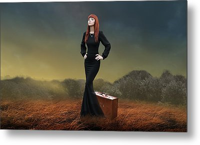 Metal Print featuring the mixed media Going Home by Marvin Blaine